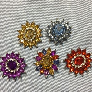 Jewelry - Snap on Jeweled Medallions 4 bracelets or necklace